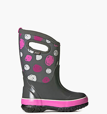 Classic Sketched Dots Kids' Insulated Boots