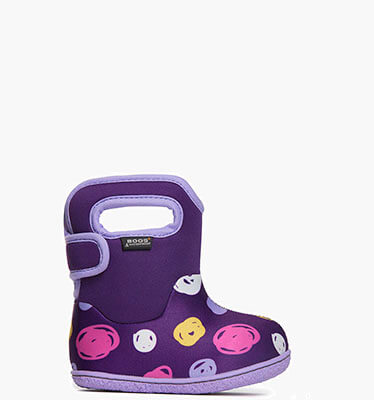 Baby Bog Sketched Dots Baby Bogs Waterproof Boots