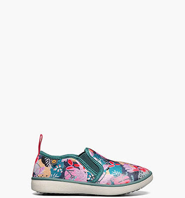The featured product is the Kicker Slip On Deco Floral print in green multi.